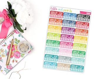 Sarcastic Spending Tracker Planner Stickers for the Erin Condren Life Planner, Money Sticker, No Spend Planner Sticker - [P0071]