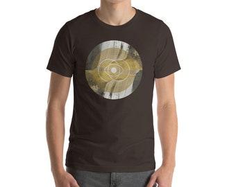 Vesica Piscis - Sacred Geometry Unisex short sleeve t-shirt - circles, geometry, math, ancient symbols