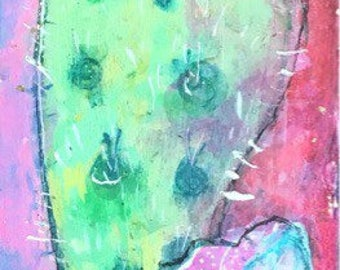 Cactus Slice- Original painting by Maria Pace-Wynters