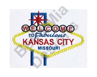 Kansas City, Missouri - Machine Embroidery Design