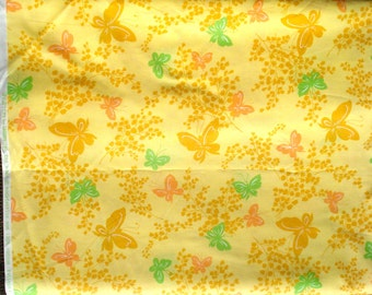 Urban Chiks Dream On butterflies yellow moda fabric FQ or more