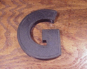 Vintage Translucent Blue Letter G 6 1/8 Inches Tall Plastic Store Outdoor Marquee Sign, Shelf Display, Wall, Home Decor, Graphic