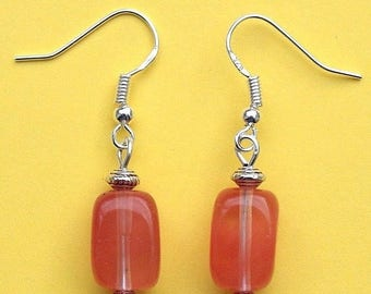 Gemstone Earrings with Sterling Silver Hooks Water Melon Tourmaline New LB77