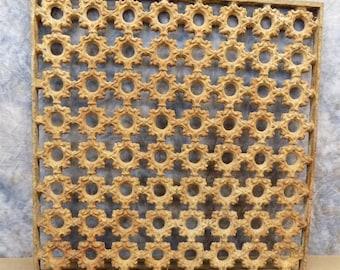 19 x 19 Cast Iron Ornamental Grate Decorative Panel Architectural Salvage b, Register Cover, Architectural Salvage Grate, Vent