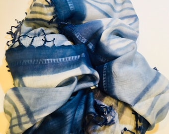 Hand Painted Scarf - Resort - Summer - Mother's Day Gift
