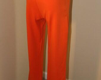 80's Powerline Pants/Womans Trousers/Tangerine/Straight Leg/Size 6