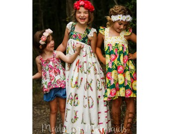 Molly Top, Tunic, Dress & Maxi PDF Pattern instant download size 1/2-14