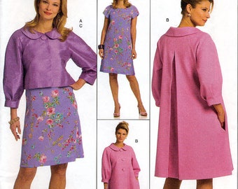 Butterick B5189 Sewing Pattern for Misses' Jacket, Coat and Dress - Uncut - Size 16, 18, 20, 22, 24