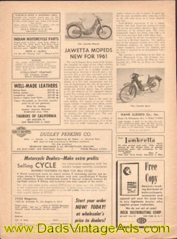 1961 New Jawetta Mopeds 1-page article #e61aa03