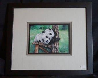 Original Pandas Watercolor Painting