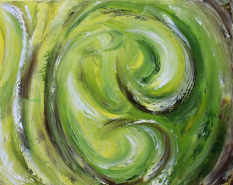Abstract Painting Green Swirl/Swirl/Green/Digital painting/JPG/Forest Whims/Art/to print/