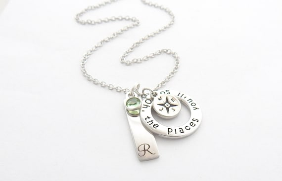 Oh The Places You'll Go Graduate Necklace