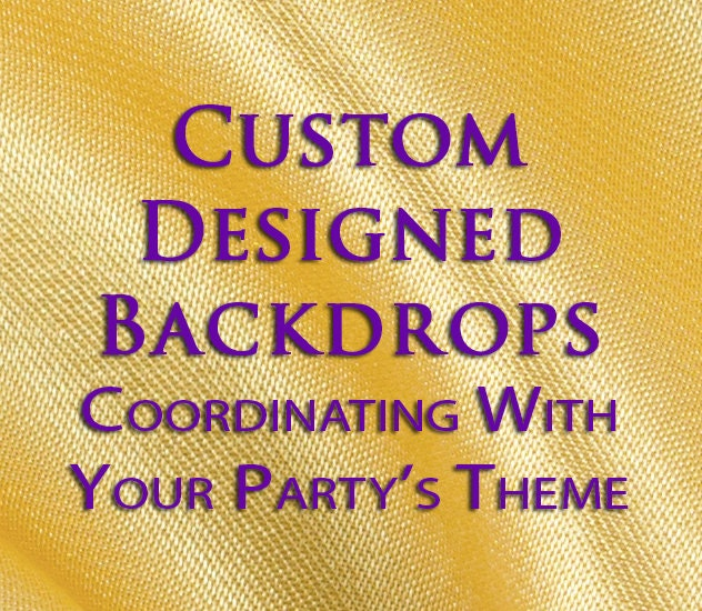 Birthday Backdrop Custom Party Theme Kids