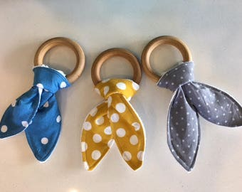 Teething rings- Polka dots
