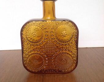 Retro Finnish Vase by Designer Nanny Still for Glassmaker Riihimaen. Finland circa 1970