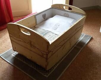 Handmade cradle for babies