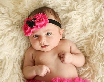 Minnie Headband, Baby Headband, Baby Headbands, Mickey Headband, Baby Girl Headband, Newborn Headband, Headbands, Pink Minnie.