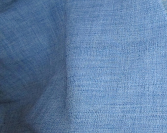 Vintage Blue Cotton Blend Material Fabric 2 Yard
