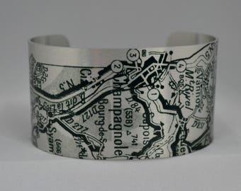 Champagnole France Map Cuff Bracelet