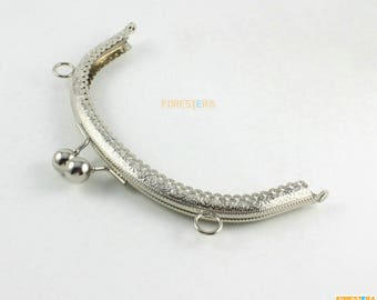 1Pcs Silver Purse Frame Bag Frame Handbag Frame 16.5CM (KJJ72)