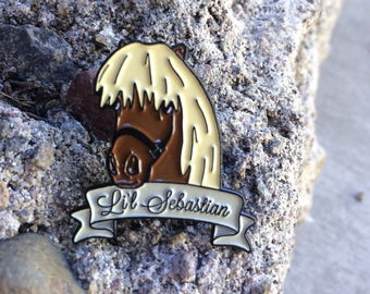Li'l Sebastian Enamel Pin | Parks and Rec