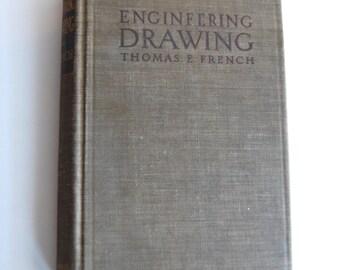 Vintage Book, Engineering Drawing