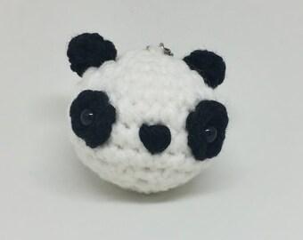 Crochet Panda Amigurumi Keychain - Ready To Ship