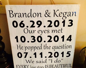 ON SALE Distressed wedding date signs, wedding sign, every love story signs, anniversary date signs, rustic wedding signs, love sign, date s