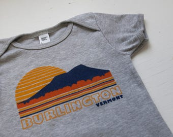 Burlington Vermont baby bodysuit baby shirt