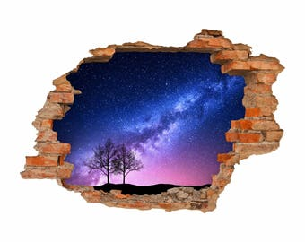053 Wall Decals Milky Way-hole in the wall