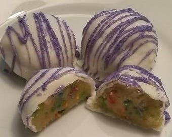 Funfetti Cake Balls Cake Truffles Cake Bites 1 Dozen Cake Balls