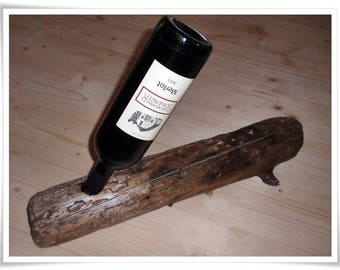 Wine bottle holder from Tyrolean driftwood/vine rack/bottle cage/Wood art/Vintage holder/rustic/quaint