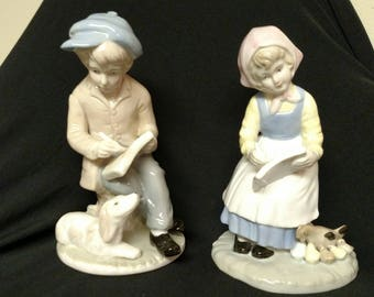 Duncan Royale Boy and Girl Figurines