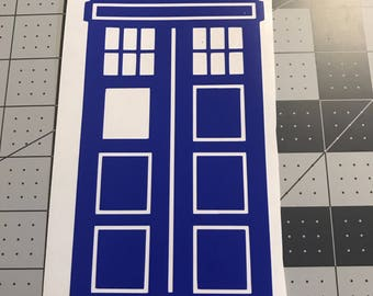 1960s Police Box Decal
