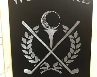 Golf Personalized Engraved Garden Flag/Sign