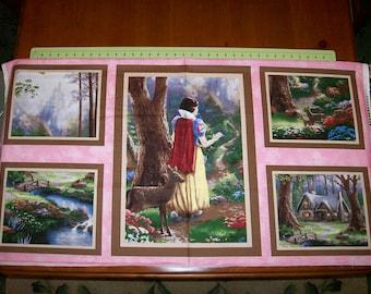 A Wonderful Thomas Kinkade Snow Whitel Disney Fabric Panel Free US Shipping