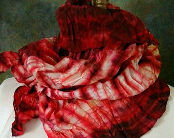 Pleated Shibori Scarf