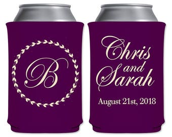 Neoprene Collapsible Can Coolers Custom Beer Holders Beverage Insulators Personalized Wedding Party Favors | Classic (5A) | READ DESCRIPTION