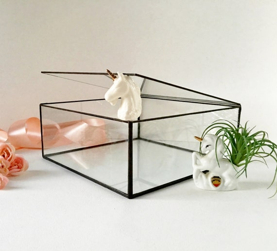 Glass Case Large Glass Display Box Glass Jewelry Box Gift