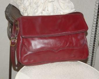 1970s Oxblood Leather Handbag