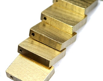 "4 pcs D445 Raw Brass  stamping 20 x 15 x 5 mm 0,79"" x 0,6"" x 0,2  finding rod industrial design (2 mm  0,08"" 12 gauge hole ) 1767"