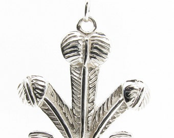 Sterling Silver Prince of Wales Feathers Pendant & Chain