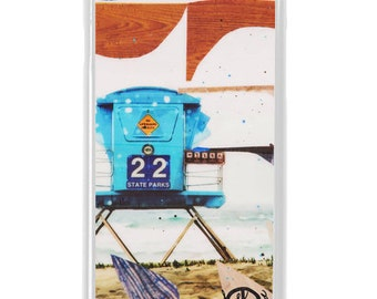 NEW iPhone 7/7+ Case, Tower 22, Indigo, Sea, Waves, Drops, Beach, Surf, Ocean Art, Ocean, Sunset, Art, Avail with Black or White case color