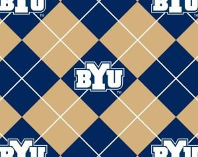 """Brigham Young University FLEECE by Sykle - 60"""" wide by the yard - BYU-095"""
