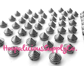 25pc 10mm Gold Stud.Textured. Avail in Silver,Gold,Gun Metal. Sew or Glue. 1.5 mm Hole.FAST Shipping From USA. Tracking for Domestic Buyers.