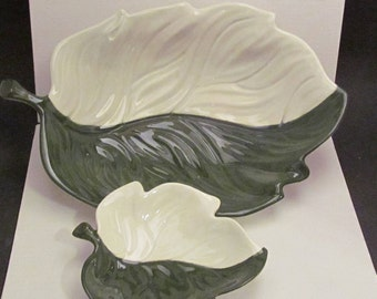 CarletonWare Leaf Design Trays Set of two