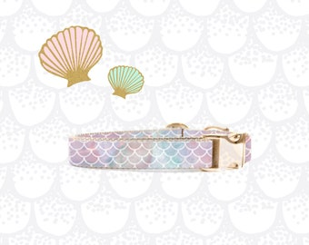 Poppy + Ted | Mermaid Scales Dog Collar | Rose Gold
