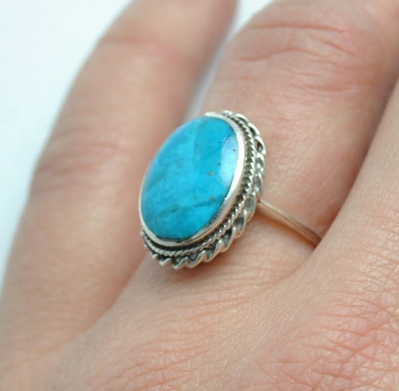 SOLD Vintage turquoise ring, boho ring, native american ring, vintage ring, ethnic ring, turquoise jewelry, native american jewelry