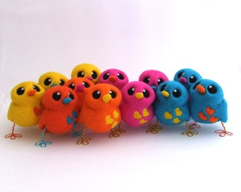 Design Your Own Needle Felted Lovebird In Bright Colours