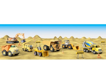 Wall decals trucks A057 - Stickers engins A057